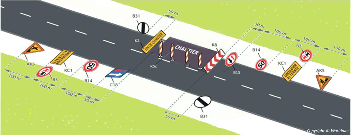 wp signalisation 14 2 circulation double sens avec priorit wp signalisation. Black Bedroom Furniture Sets. Home Design Ideas