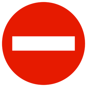 panneau d'interdictionsens interdit a tout véhicule b1